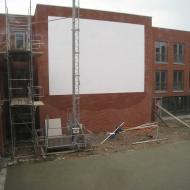 Dia/film scherm in de patio